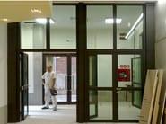 Glass Fire door ISOFIREGLAS® STEELSWING - SAN.CO Costruzioni Tecnologiche