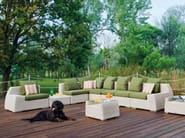 Sectional upholstered garden sofa VOGUE | Sectional sofa - Atmosphera