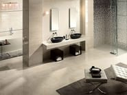 Glazed stoneware flooring with marble effect MARMO D Travertino Bianco - Italgraniti