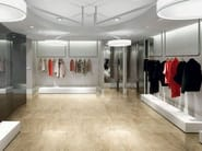 Glazed stoneware flooring with marble effect MARMO D Travertino - Italgraniti