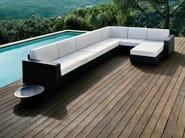 Corner modular garden sofa MOOD | Corner sofa - Bivaq