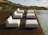 Upholstered garden pouf MOOD LOW | Pouf - Bivaq