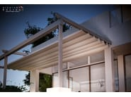 Wall-mounted pergola with sliding cover COMPAKT - TENDA SERVICE