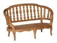 2 seater teak garden sofa BLEUET | Garden sofa - ASTELLO