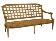 2 seater teak garden sofa GARDÉNIA | Garden sofa - ASTELLO