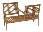2 seater teak garden sofa SERPENTINE | Garden sofa - ASTELLO