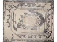 Handmade rectangular rug FONTENAY NEW AGE GREY - EDITION BOUGAINVILLE
