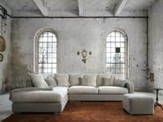 Corner fabric sofa with removable cover CLARA - Minimomassimo