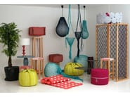 Handmade technical fabric pendant lamp TRAP | Pendant lamp - Darono