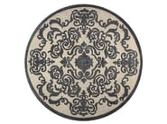 Contemporary style handmade square custom rug CARDINAL CIRCLE PEARL - EDITION BOUGAINVILLE