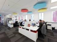 Glass wool acoustic ceiling clouds Ecophon Solo™ Hexagon - Saint-Gobain ECOPHON