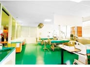 Sound absorbing glass wool ceiling tiles Ecophon Hygiene Meditec™ A C1 - Saint-Gobain ECOPHON