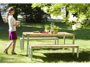 Steel and wood garden bench ROBIN | Garden bench - sixay furniture