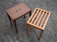 Low wooden stool ZEBRA | Low stool - sixay furniture