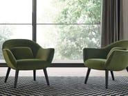 Upholstered fabric armchair MAD CHAIR | Armchair - Poliform