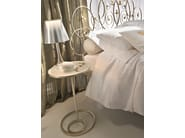 Round silver leaf bedside table MON AMOUR | Bedside table - CIACCI