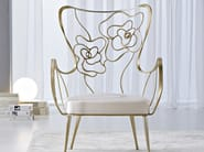 High-back silver leaf armchair TEA | Armchair - CIACCI