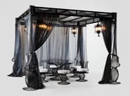 Iron gazebo with sliding cover SOLE | Gazebo with sliding cover - Samuele Mazza Outdoor Collection by DFN