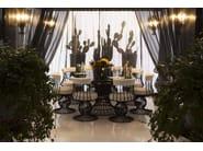 Round iron garden table SIRIO | Round garden table - Samuele Mazza Outdoor Collection by DFN