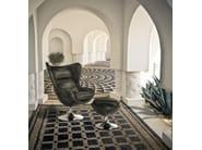 Upholstered woven wicker garden armchair ALDEBARAN | Garden armchair - Samuele Mazza Outdoor Collection by DFN
