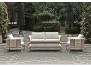 Fabric garden sofa ANTARES | 3 seater sofa - Samuele Mazza Outdoor Collection by DFN