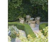 Upholstered fabric garden armchair VEGA   Garden armchair - Samuele Mazza Outdoor Collection by DFN