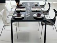 Rectangular crystal table PRADO | Rectangular table - CIACCI