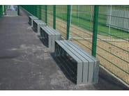 Steel Bench BLOC STEEL | Backless Bench - Factory Street Furniture