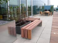 Backless wooden Bench BLOC WOOD - Factory Street Furniture