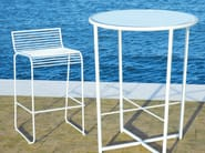 Sled base high powder coated steel garden stool GRID | Garden stool - CIACCI