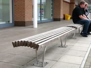 Wooden Bench LOUVRE - Factory Street Furniture