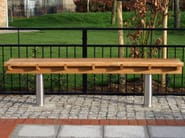 Backless wooden Bench SCROLL - Factory Street Furniture