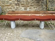 Wooden Bench SERPENTINE 5 SLAT ELIPSE - Factory Street Furniture