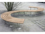 Curved wooden Bench SINU 72° - Factory Street Furniture