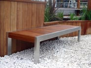 Stainless steel and wood Bench SKOP | Bench - Factory Street Furniture
