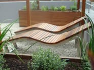 Stainless steel and wood lounge chair SKOP - Factory Street Furniture