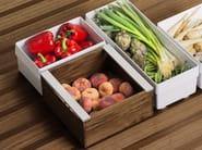 Walnut drawers divider / food-storage box B3 INTERIOR SYSTEM | Walnut food-storage box - Bulthaup