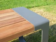 Steel and wood picnic table MURTON | Table for public areas - Factory Street Furniture