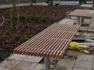 Wooden Table for public areas SERPENTINE | Table for public areas - Factory Street Furniture