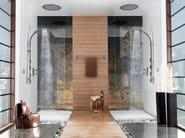 Shower wallbar with hand shower MIXA/3 FITAIR | Shower wallbar - Bossini
