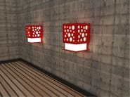 LED direct-indirect light wall lamp CUBE | Wall lamp - Zuri Design
