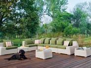 Rectangular glass garden side table VOGUE | Coffee table - Atmosphera