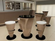 Round high table STRATUM | High table - Zuri Design