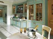 Venetian style lacquered gold leaf kitchen FORTUNA GOLD - GD Arredamenti