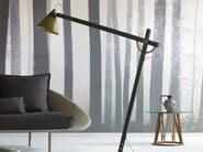Direct light adjustable wooden floor lamp with swing arm SLOPE | Floor lamp with swing arm - Miniforms