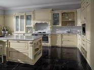 Venetian style lacquered silver leaf kitchen SERENISSIMA - GD Arredamenti
