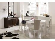 Rectangular wooden dining table LUNA | Rectangular table - SELVA
