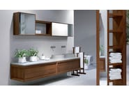 Double ash vanity unit with drawers VULCANO | Wall-mounted vanity unit - GD Arredamenti