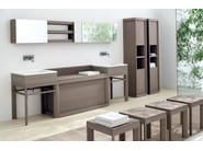 Tall ash bathroom cabinet with doors VISONE | Tall bathroom cabinet - GD Arredamenti