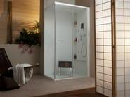 Corner multifunction shower cabin with hinged door WELLDREAM   Corner shower cabin - MEGIUS